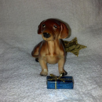 Vintage Japan Dachshund Weiner Dog Figurine, Japan Collectible