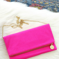 Ashley Neon Clutch Bag