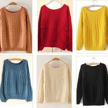 Women's Pullovers Outerwear 8 colors sweater