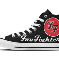 Foo Fighters Hi-Top Unisex Trainers