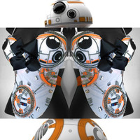 BB8 Star Wars Bra: rave attire, geek, stormtrooper, rave wear, festival, cosplay, edc, edc bra, rave bra, edm, costume