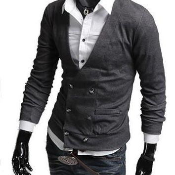 Men's Double Breasted Fashion Cardigan
