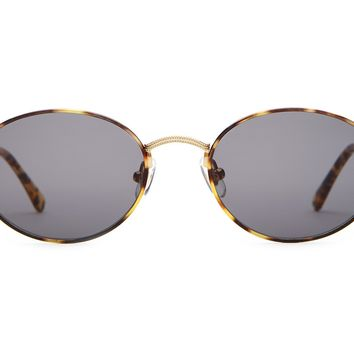 Crap Eyewear - New Riddim Brushed Gold + Tokyo Tortoise Sunglasses / Grey Lenses