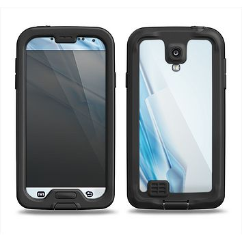 The Blue HD Glass Shard Samsung Galaxy S4 LifeProof Nuud Case Skin Set