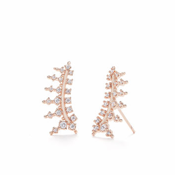 Laurie Ear Climbers in Rose Gold | Kendra Scott | Bridal