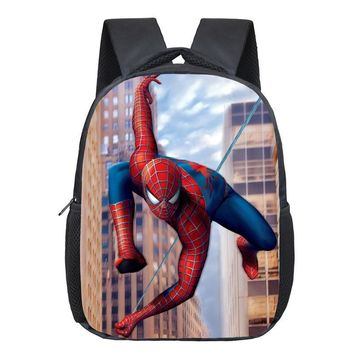 Comics Hero Spiderman Backpack Children Super Hero spider Man School Backpacks Boys Cartoon Superman Kids Students School Bags