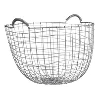 Round metal wire basket - Silver-coloured - Home All | H&M GB