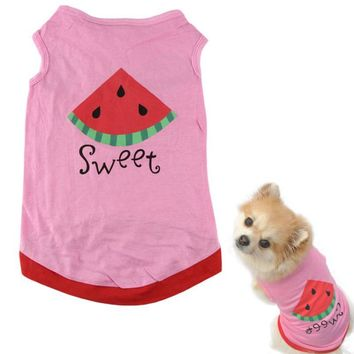 Sweet Strawberry Summer Dog Tee