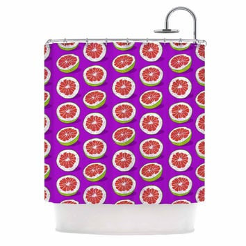 "Evgenia ""Pomelo"" Purple Red Shower Curtain"