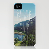 Never Stop Exploring iPhone Case by Leah Flores | Society6