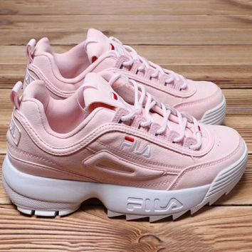 FILA Running Sport Casual Shoes Sneakers Pink G-XYXY-FTQ
