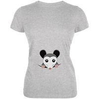 Halloween Peeking Possum Costume Juniors Soft T Shirt