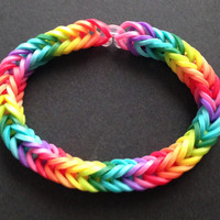 Rainbow Rubber Band Bracelet - Rainbow Loom