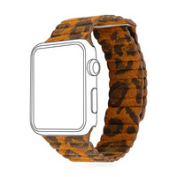 Leopard Print Leather Watch Band for Apple Watch