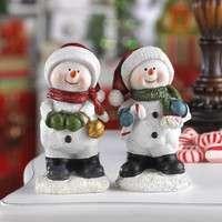 Having Fun Snowman Buddies Holiday Decor