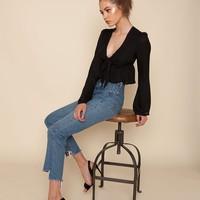 Anja Crop - Black | Stone Cold Fox