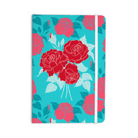 "Anneline Sophia ""Summer Rose Red"" Blue Aqua Everything Notebook"