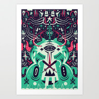 Spirit of the gods Art Print by Evren Yılmaz
