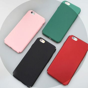 Phone Cases for Iphone 5s 5 SE 6 6s 6 Plus 6s 7 Plus Hard Plastic Frosted Matte Phone Covers for Iphone 5s 10 Colors