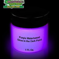 Glominex AD390 Glow in the Dark Body Paint 1 Ounce Jar - Purple