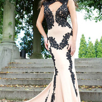 Jovani 89902 Lace Applique Prom Evening Gown Wedding Dress