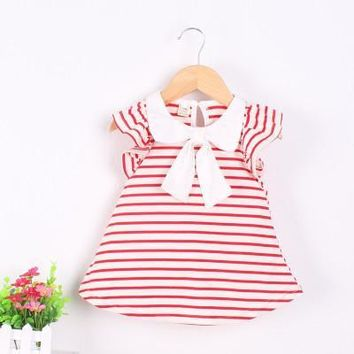 Baby Girl Nautical Inspired Summer Dress - Multiple Colors