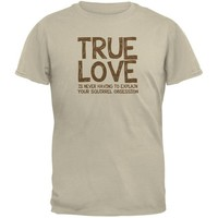 DCCKJY1 Valentines Day True Love Squirrel Sand Adult T-Shirt