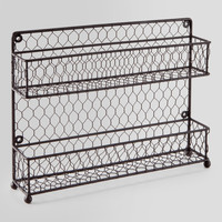 Wire Two-Tier Spice Rack - World Market