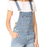 Relaxed Boyfriend Overalls