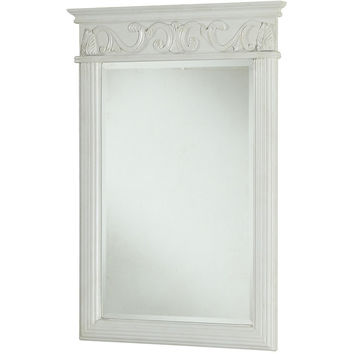 "Danville 25""x36"" Vanity Mirror, Antique White"