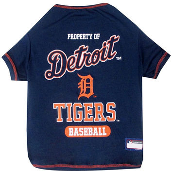 Detroit Tigers Dog Tee Shirt - Extra Large