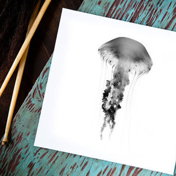 Medusa Series No2 Jellyfish Art by natemadegoods on Etsy