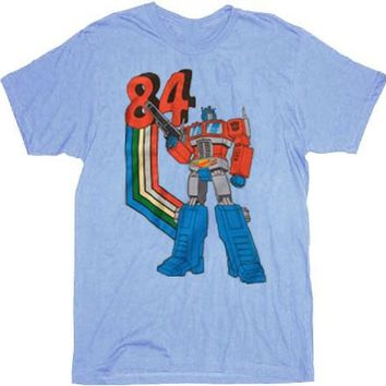 Transformers 84 Optimus Prime Light Blue T-shirt - Transformers - | TV Store Online