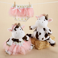 """Daisy Lou & Bloomer, Too!"" Plush Cow and Bloomer"