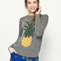 Pineapple Pattern Summer Fashion Style Lovely Women Clothing = 4697440004