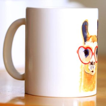 Watercolor Giraffe Ceramic Mug Coffee Cup With Handgrip
