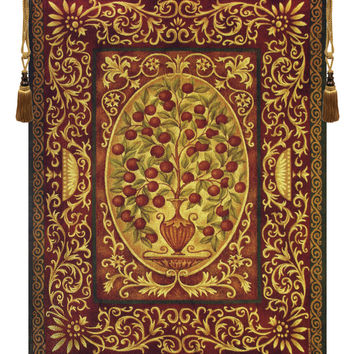 Abundance -  Apple Tree of Life Tapestry Wall Art Hanging