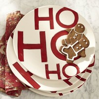 Ho Ho Ho Salad Plate, Set of 4