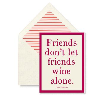 Friends Don't Let Friends Single Folded Card or Boxed Set of 8