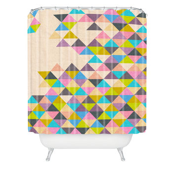 Bianca Green Completely Incomplete Shower Curtain