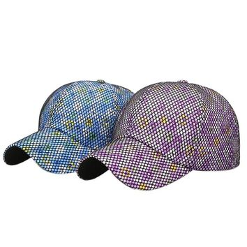 Polka dot flower mesh hat embroidery  men and women sports hat letter color ball cap cotton sweat cap