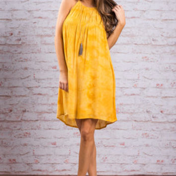 Sun's Coming Out Dress, Yellow