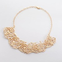 Five French Lace Fan Necklace
