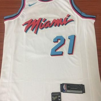 Miami Heat #21 Hassan Whiteside City Edition Swingman Jersey