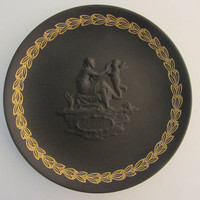 "Black Basalt Wedgwood 6.25"" Mother Plate - 1971"