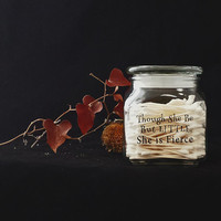 Personalized  Etched Glass Jar Engraved Your Quotes Names
