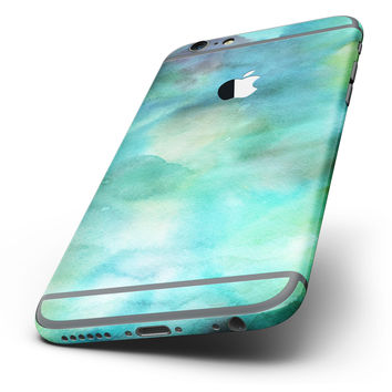 The Green 979 Absorbed Watercolor Texture Six-Piece Skin Kit for the iPhone 6/6s or 6/6s Plus