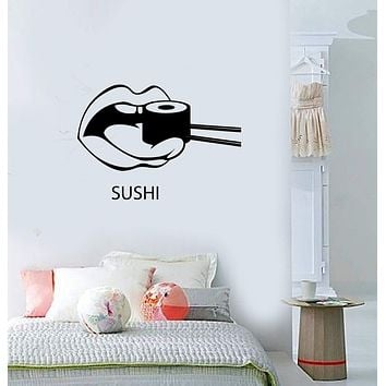 Wall Decal Sushi Food Japan Oriental Restaurant Vinyl Stickers Art Mural Unique Gift (ig2574)