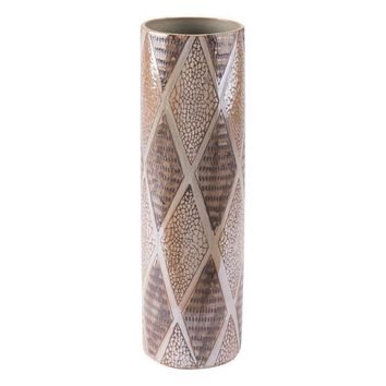 A10125 Pearl Tall Cylinder Vase Brown