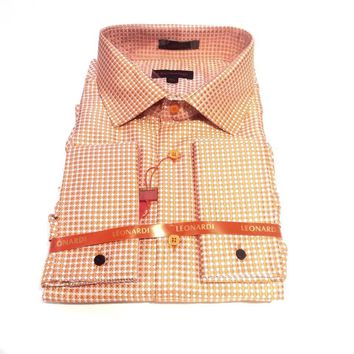 "Leonardi ""Checkered Orange"" Button Up Shirt"
